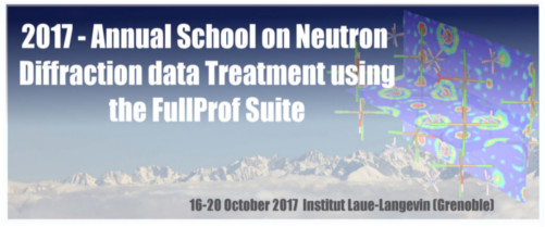 2017 - Annual School on Neutron Diffraction Data Treatment using the FullProf Suite