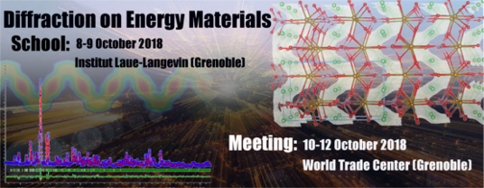 Diffraction on Energy Materials: School and Meeting